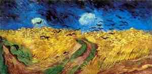"""""""el color borra de vino de la tierra se enfrenta locament con el amarillo sucio del trigo...""""ARTAUD"""